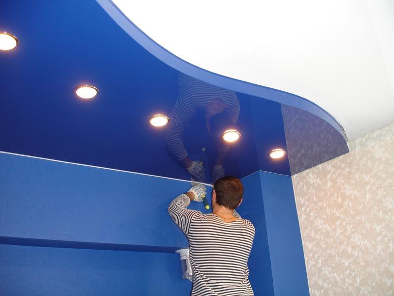 Как правильно установить натяжной потолок своими руками - смотрите фото и видео