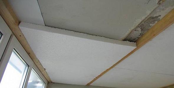 Утепление потолка пенопластом изнутри