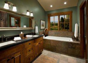 Ванная комната в стиле «кантри»
