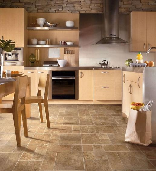 плитка на кухни на пол фото
